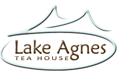 Lake Agnes Teahouse logo and link to homepage